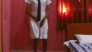 Village girl having sex with Bf in school dress