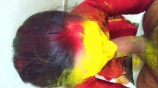 Desi village maid fucked in bathroom on Holi
