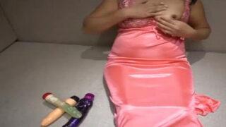 Dehati Sexy Bhabhi Fucking Pussy With 3 Dildos