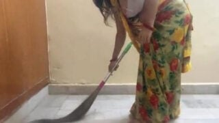 Chubby Indian village maid fucked by owner for money