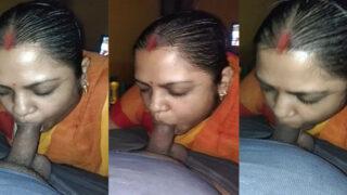 Bangla village Bhabhi giving sexy blowjob