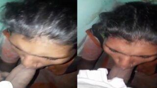 Adivasi village girl giving nice blowjob to BF