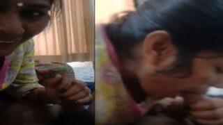 Desi village maid giving a nice blowjob