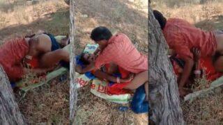 Village slut sex with customers outdoors