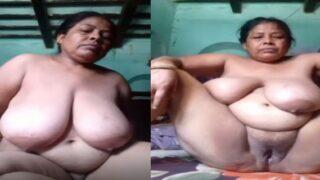 Mature village Mom fingering pussy nude