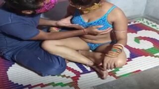Village slut hired and fucked by young boy