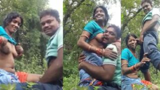 Odia village couple outdoor romance and blowjob